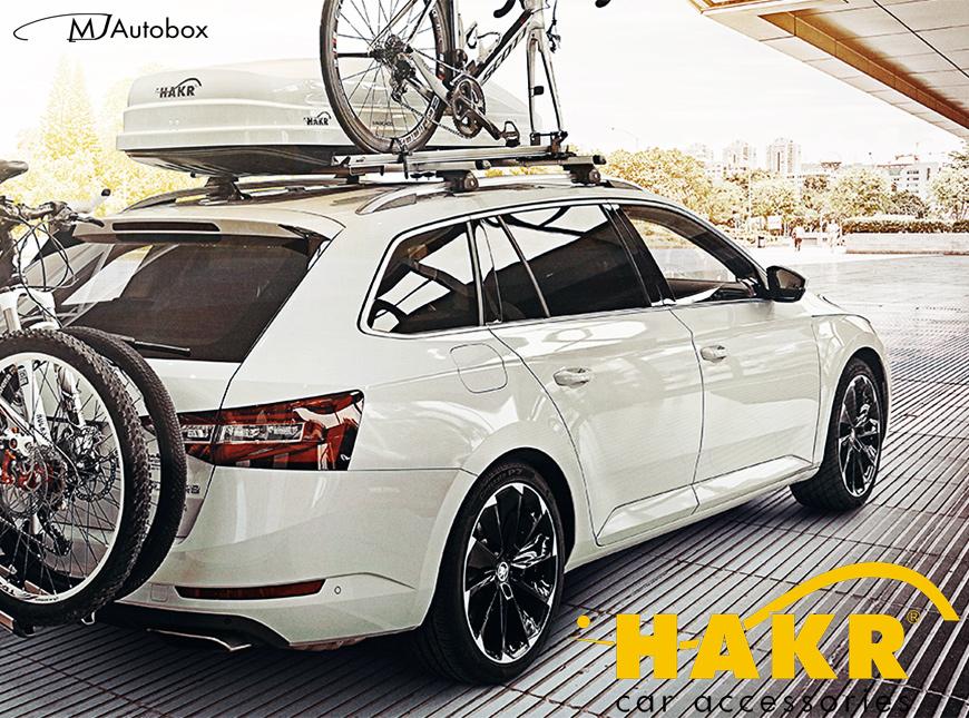 Hakr - автобоксове, багажници, греди, кутии за багаж и колелета