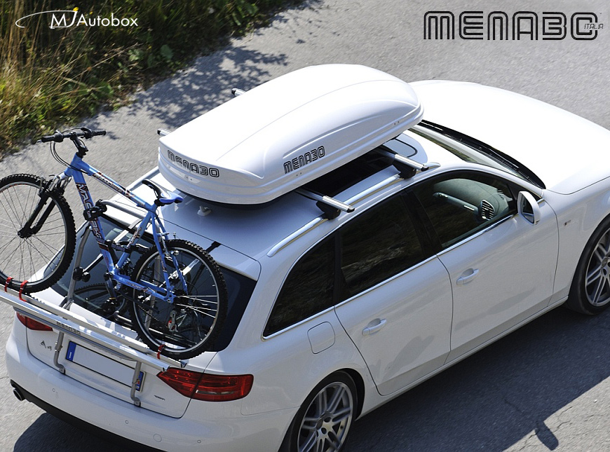 Menabo - автобоксове, багажници, греди, кутии и аксесоари за багаж