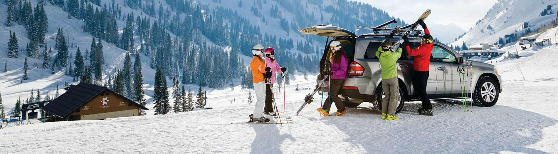 Ски багажници и адаптери с монтаж на напречни греди, теглич или задната врата