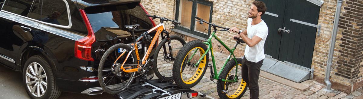 Багажници за колела, стойки за велосипеди. Багажник за колело с монтаж на напречни греди, багажник за велосипед за теглич, багажник за велосипеди на багажната врата.