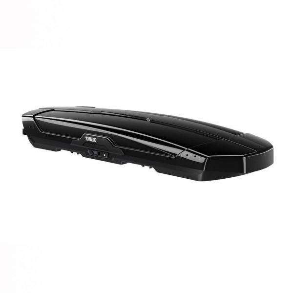 Автобоксът Thule Motion XT ALPINE черен гланц е много голям багажник с обем 450 литра и размери 232 x 95 x 35 см за автомобил, кола за багаж ски сноуборд