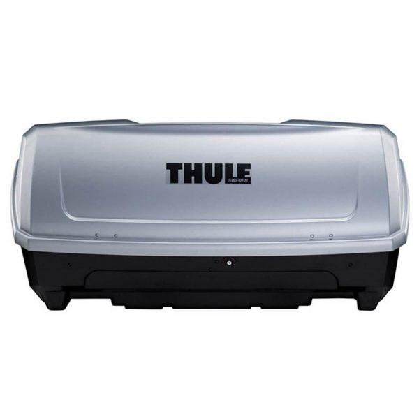 Thule BackUp 900 е кутия за багаж за монтаж на вело багажник за теглич Thule EasyBase 949 или на вело багажник с монтаж на багажната врата Thule BackPac 973