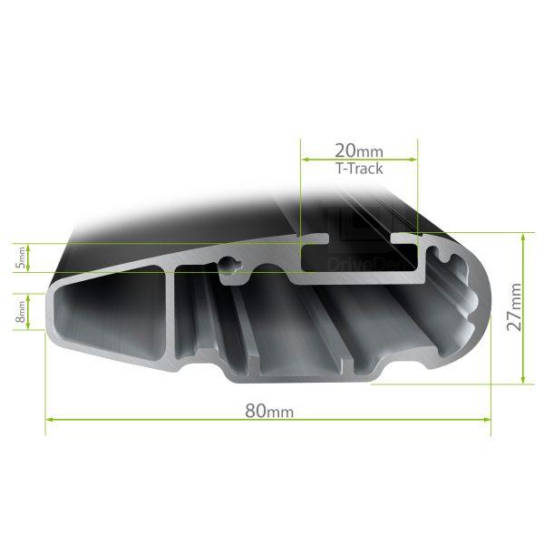 Напречните греди Thule WingBar Edge Black за монтаж на фабрични надлъжни интегрирани  рейлинги или за монтаж на фиксирани точки на тавана на автомобила.