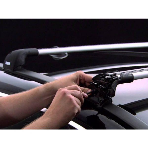 Напречните греди Thule WingBar Edge са подходящи за монтаж на фабрични надлъжни интегрирани (залепени) греди тип рейлинг или за монтаж на фиксирани точки на тавана на автомобила.