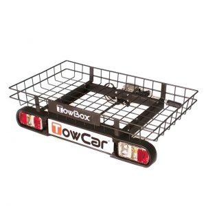 Багажникът за теглич ToxBox Cargo е многофункционална платформа със скара и лесен достъп за товари като бебешки колички, инвалидни колички, куфари, косачки, материали и други.