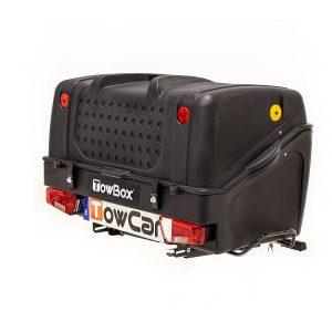 Автобоксът за теглич ToxBox V1 е многофункционален багажник, куфар, кутия с лесен достъп за товари като бебешки колички, инвалидни колички, куфари, косачки, материали и..