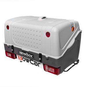 Автобоксът за теглич ToxBox V1 е многофункционален багажник с лесен достъп за товари като бебешки колички, инвалидни колички, куфари, косачки, материали и други.