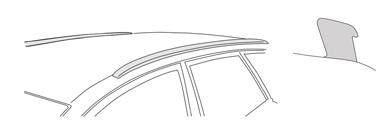 Тип фабрични греди - интегрирани flush rails надлъжни релси багажник с външен ръб