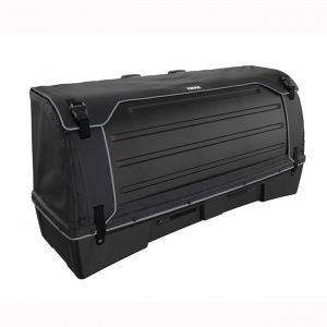 Thule BackSpace XT 9383 е 300 литрова премиум кутия за багаж с лесен достъп, идеална примерно за две чанти за голф или детска количка, с монтаж на теглич