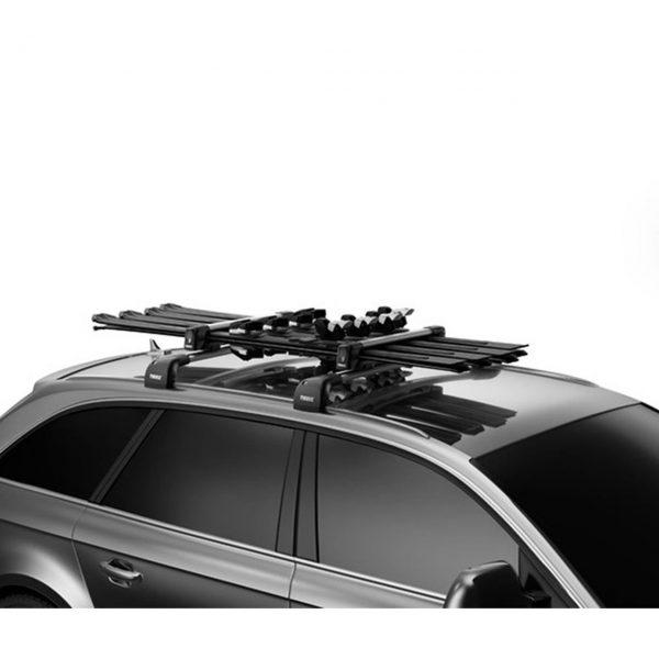 Универсален багажникThule SnowPack M 7324 - 62см за 4 чифта ски или 2 сноуборда с монтаж на алуминиеви напречни греди с Т канал и Т болтове