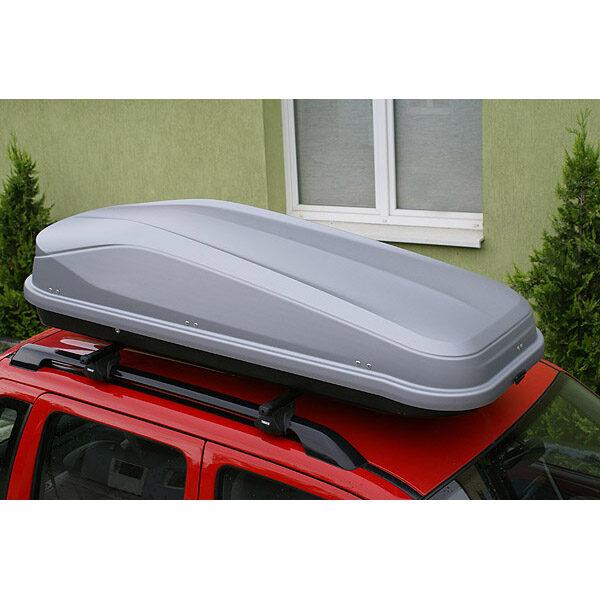 Автобоксът Junior Easy 430 сив багажник в матиран лак е една красива кутия с модерен дизайн и оптимално съотношение между обем, дизайн и аеродинамика.