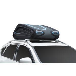 Автобоксът Norauto Bermude Flex 3400 е много компактен багажник, но и голяма кутия за багаж с капацитет от 340 литра, може да се сгъва в чанта и е малка.