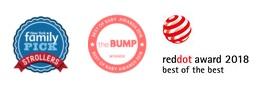 Призове, награди и отличия за детска количка Thule Urban Glide - стилна спортна детска количка за джогинг Thule Urban Glide 2 в синьо за бягане с помпащи се гуми, маневрена, високо проходима за пътеки в гората или градината
