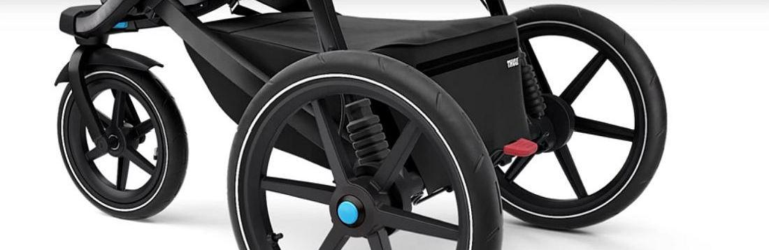 Спортна детска лятна количка за джогинг Thule Urban Glide 2 в за бягане с помпащи се гуми, маневрена, високо проходима за пътеки в гората или градината