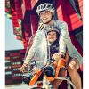 Детско Столче за Велосипед Thule RideAlong Mini с монтаж отпред на колелото на кормилото е безопасен и удобен начин за леко и приятно пътуване заедно