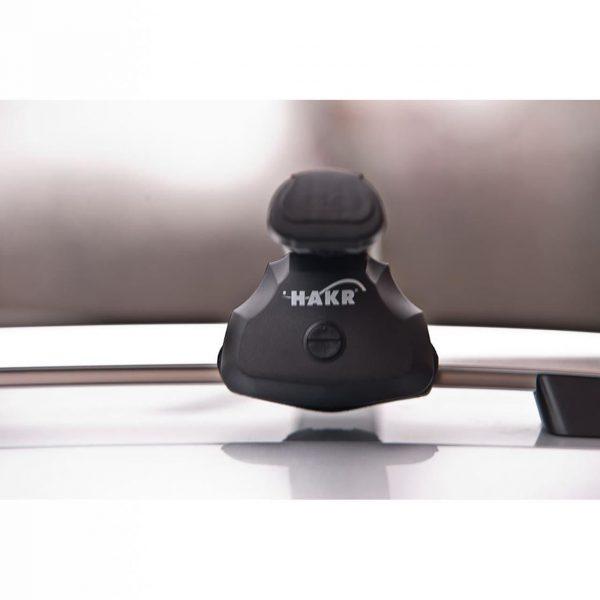 Напречни греди - багажник Hakr 0053 са универсални с ширина 124 см подходящи за автомобили с фабрични надлъжни греди рейлинги с просвет към покрива
