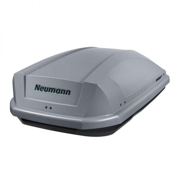 Автобокс Neumann Adventure 130 с обем 300 литра в сив мат. Тих, красив и аеродинамичен багажник, куфар за багаж за малка или голяма кола, комби, джип.