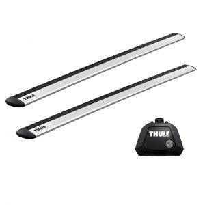 Багажник - напречни греди Thule WingBar Evo са подходящи за монтаж на фабрични надлъжни греди тип рейлинг с просвет - дистанцирани от покрива на автомобила.