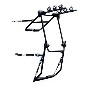 Универсален велосипеден багажник от стомана за три колела Norauto Norbike 3 с монтаж на багажната врата или 5-тата врата на колата ви за велосипеди, колела