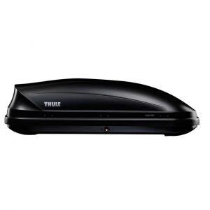 Автобоксът Thule Pacific 200 е голяма, стилна и модерна кутия за багаж в черен мат, с капацитет от 410 литра много място за съхранение дизайн и аеродинамика