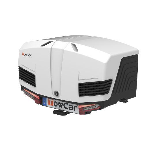 Автобоксът за теглич ToxBox V3 Arctic е бяла кутия, куфар, багажник за товари като бебешки или инвалидни колички, куфари, чанти, торби, материали