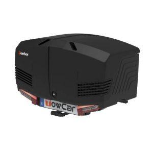 Автобоксът за теглич ToxBox V3 Urban е черна кутия, куфар, багажник за товари като бебешки или инвалидни колички, куфари, чанти, торби, косачки, материали