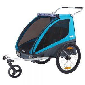 Многофункционалната Thule Coaster XT детска количка за вървене или джогинг, количка за велосипед, комфорт и гъвкавост за семейства с активен начин на живот.