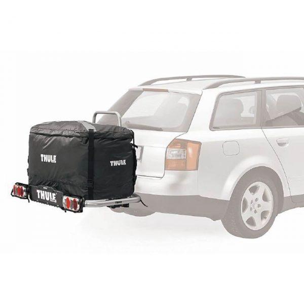 Багажникът за теглич Thule EasyBase 949 е многофункционална платформа с лесен достъп за бебешки колички, инвалидни колички, куфари, косачки, материали..
