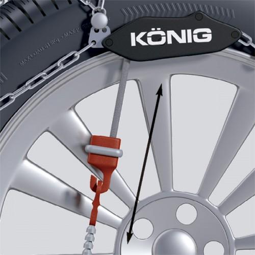 Вериги за сняг Thule / Konig XG-12 Pro с автоматично само затягане са изработени от висококачествена 12 мм метална верига, предлагат отлично сцепление върху лед и сняг и гарантират дългосрочна употреба.