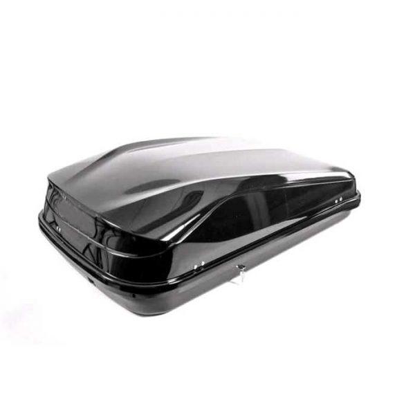 Автобокс Junior Easy 420 черен голям багажник в гланцов лак е красив и хубав куфар модерен дизайн и оптимално съотношение между обем, дизайн и аеродинамика.
