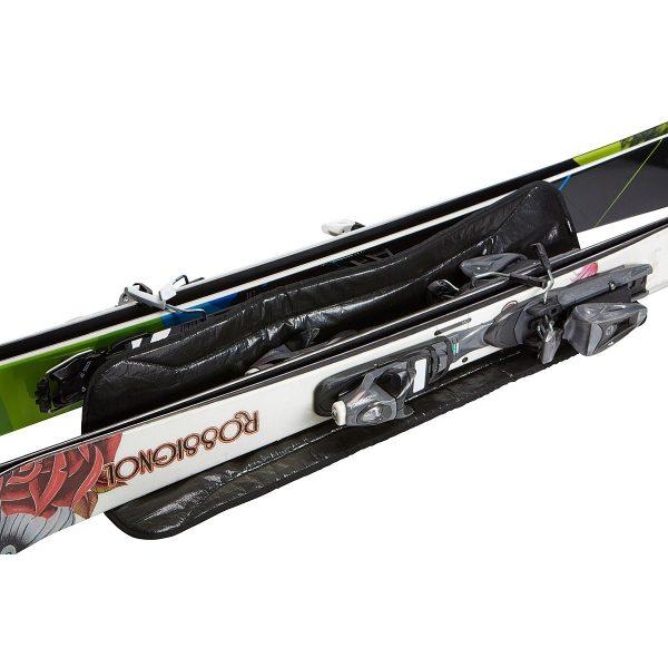 Универсален ски багажник с колелцаThule RoundTrip Ski Roller, чанта, сак, калъф за пренасяне на два чифта ски за бягане един чифт алпийски с подплата и цип