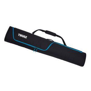 Универсален сноуборд багажник в черно, просторна сноуборд чанта Thule RoundTrip Snowboard Bag, сак, калъф за пренасяне на една дъска и обувки с непромокаема подплата и цип