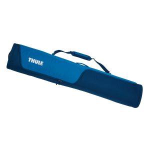 Универсален сноуборд багажник в синьо, просторна сноуборд чанта Thule RoundTrip Snowboard Bag, сак, калъф за пренасяне на една дъска и обувки с непромокаема подплата и цип
