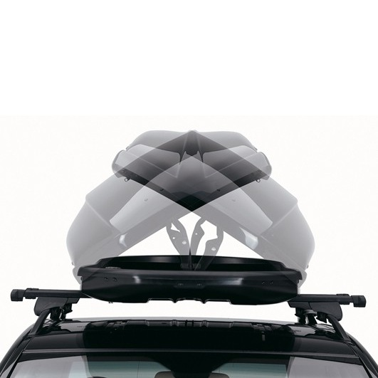 Много Голям Автобокс Neumann Adventure 230 с обем 630 литра сив гланц. Тих, красив и аеродинамичен багажник, куфар багаж за голяма кола, комби, джип, ван