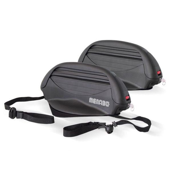 Магнитен багажник Menabo Aconcagua за 3 чифта ски или 2 сноуборда за транспортиране с компактен дизайн, заключване и изключително голяма сила на залепване.