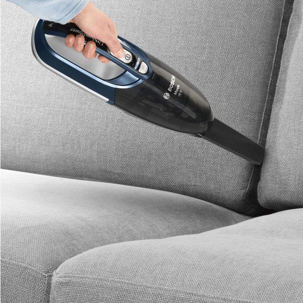 Ръчна прахосмукачка Bosch Move BHN1840L Li-Ion 18V за почистване на кола, автомобил, багажник с работа на батерия без кабел