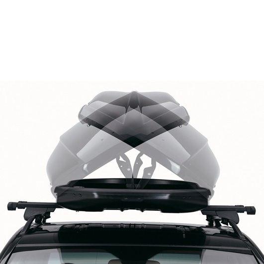 Багажник Автобокс Northline EvoSpace сив е тих луксозен красив и спортен багажник - кутия за ски багаж модерен дизайн голям обем перфектна аеродинамика