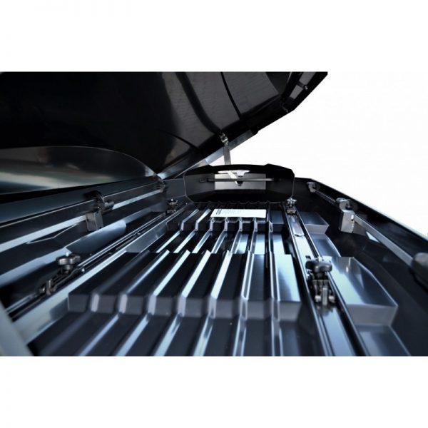 Багажник Автобокс Northline Tirol 420 бял е тих луксозен красив и подсилена стомана кутия за ски багажник модерен дизайн голям обем перфектна аеродинамика