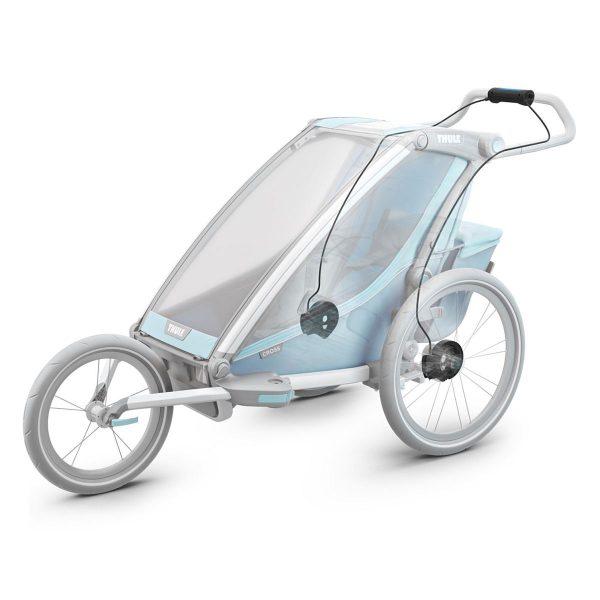 Thule Chariot Brake Kit е Комплект за допълнителна барабанна спирачка за детска количка Thule Chariot контролиране на скоростта, плавно намаляване, спиране