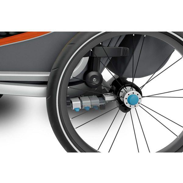 Двойна Детска Количка Мултиспорт Thule Chariot Cross 2 за близнаци многофункционална детска количка с възможност за вървене, джогинг, ски и велосипед