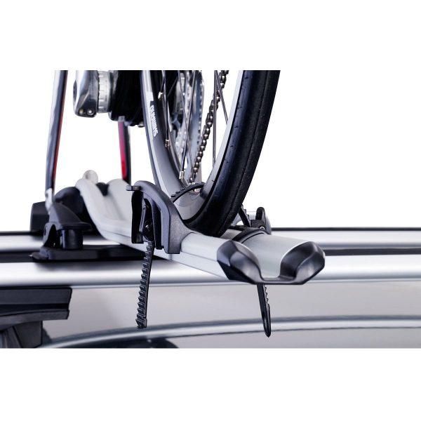 Вело багажник за колело Thule OutRide 561 - лек и удобен за превозване багажник на велосипеди с демонтирана предна капла придаващ професионален вид и спортно усещане.