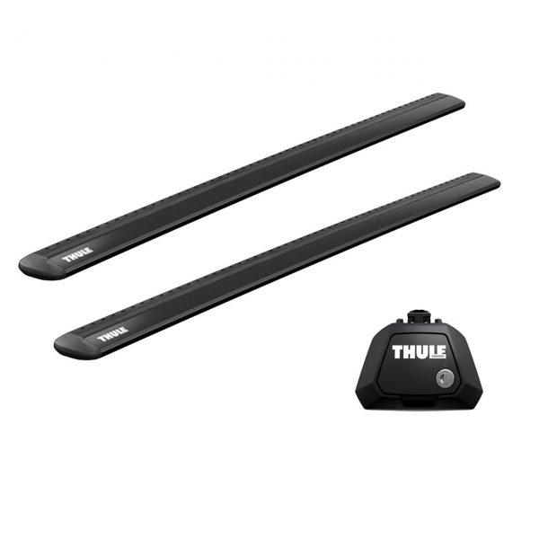 Напречни греди Thule Evo Raised Rail WingBar Evo 127cm в Черно за CITROEN C-crosser 5 врати SUV 07-12 с фабрични надлъжни греди с просвет 1