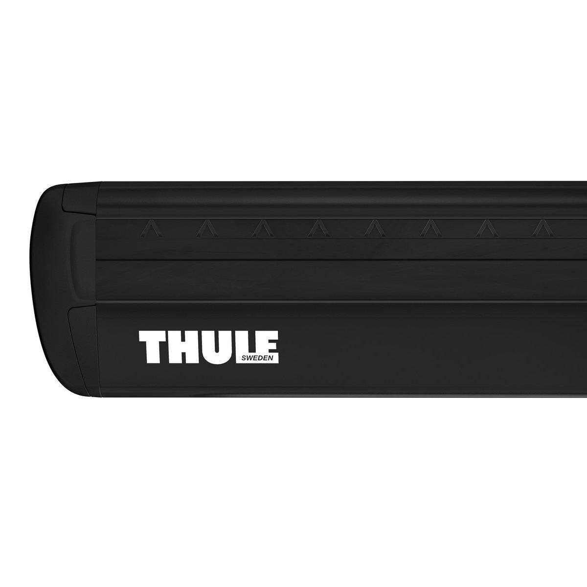 Напречни греди Thule Evo Raised Rail WingBar Evo 127cm в Черно за FIAT Stilo Uproad 5 врати SUV 02-07, с фабрични надлъжни греди с просвет 6