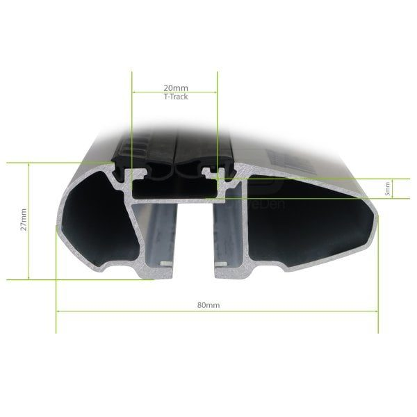 Напречни греди Thule Evo Raised Rail WingBar Evo 127cm за FIAT Freemont 5 врати SUV 2012- с фабрични надлъжни греди с просвет 10