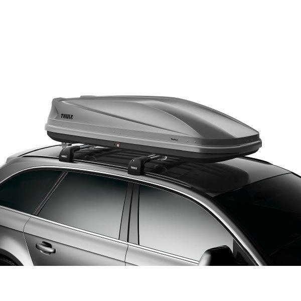 Автобокс Thule Touring L 780 - голяма, стилна и модерна кутия за багаж в сив мат, с капацитет от 420 литра много място за съхранение дизайн и аеродинамика