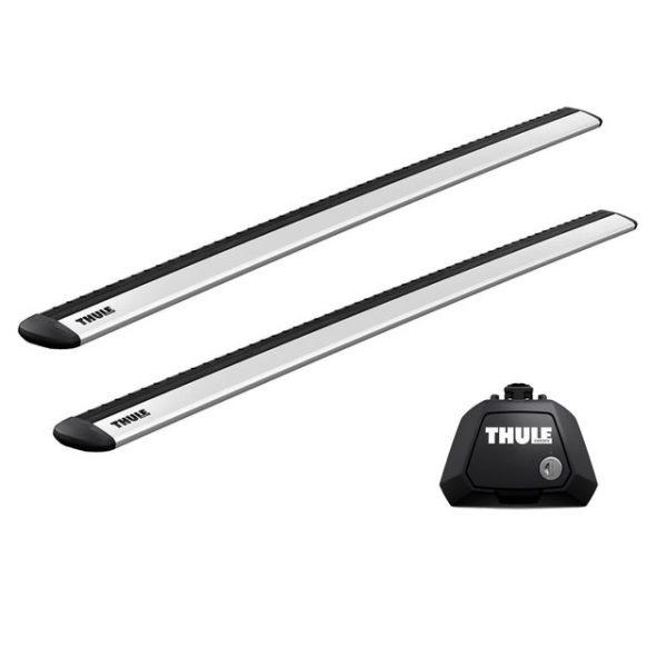 Напречни греди Thule Evo Raised Rail WingBar Evo 118cm за RENAULT Clio (III) 5 врати Estate 07-12 с фабрични надлъжни греди с просвет 1