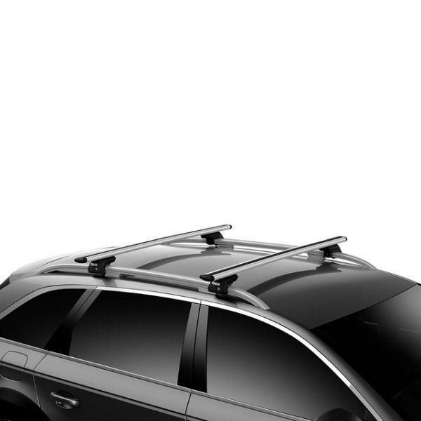 Напречни греди Thule Evo Raised Rail WingBar Evo 118cm за VOLVO V50 5 врати Estate 04-12 с фабрични надлъжни греди с просвет 3