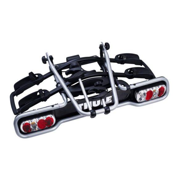 Вело багажник за 3 колела Thule EuroRide 943 е здрав, сигурен, стабилен, масивен и лесен за използване багажник за теглич със заключване, сгъваем малък