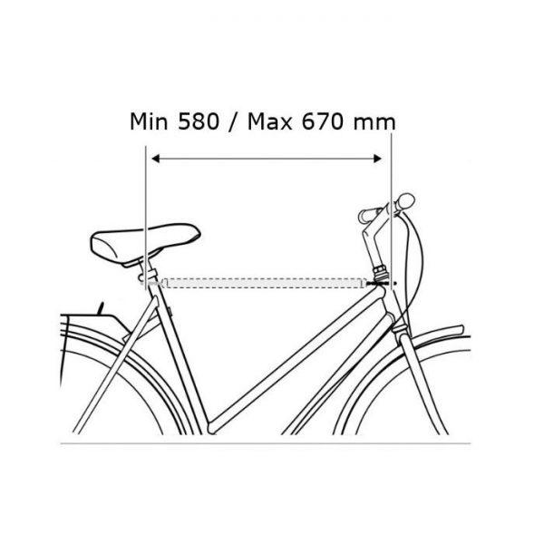 Удължаващ напречен адаптер за рамка Thule Bike Frame Adapter 982 за дамско или детско колело без фабрична напречна рамка за монтаж на висящ вело багажник за багажната врата