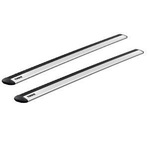 Thule WingBar Evo са супер тихи, много хубави и аеродинамични 2 напречните греди в натурален сив алуминий нови, пълен комплект - само гредите в кашон с гаранция